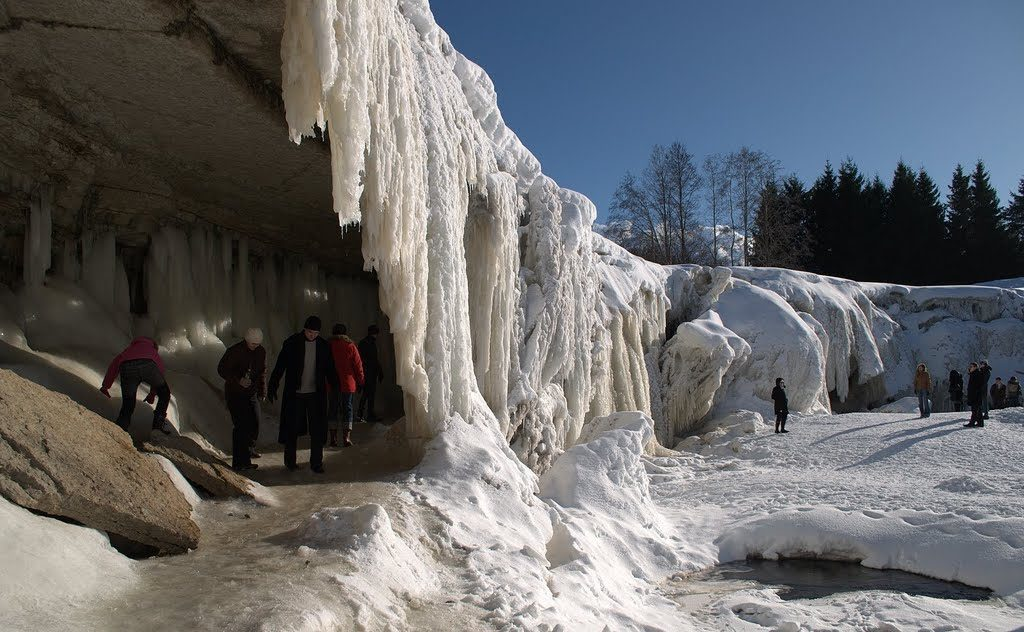 Frozen Jägala Waterfall