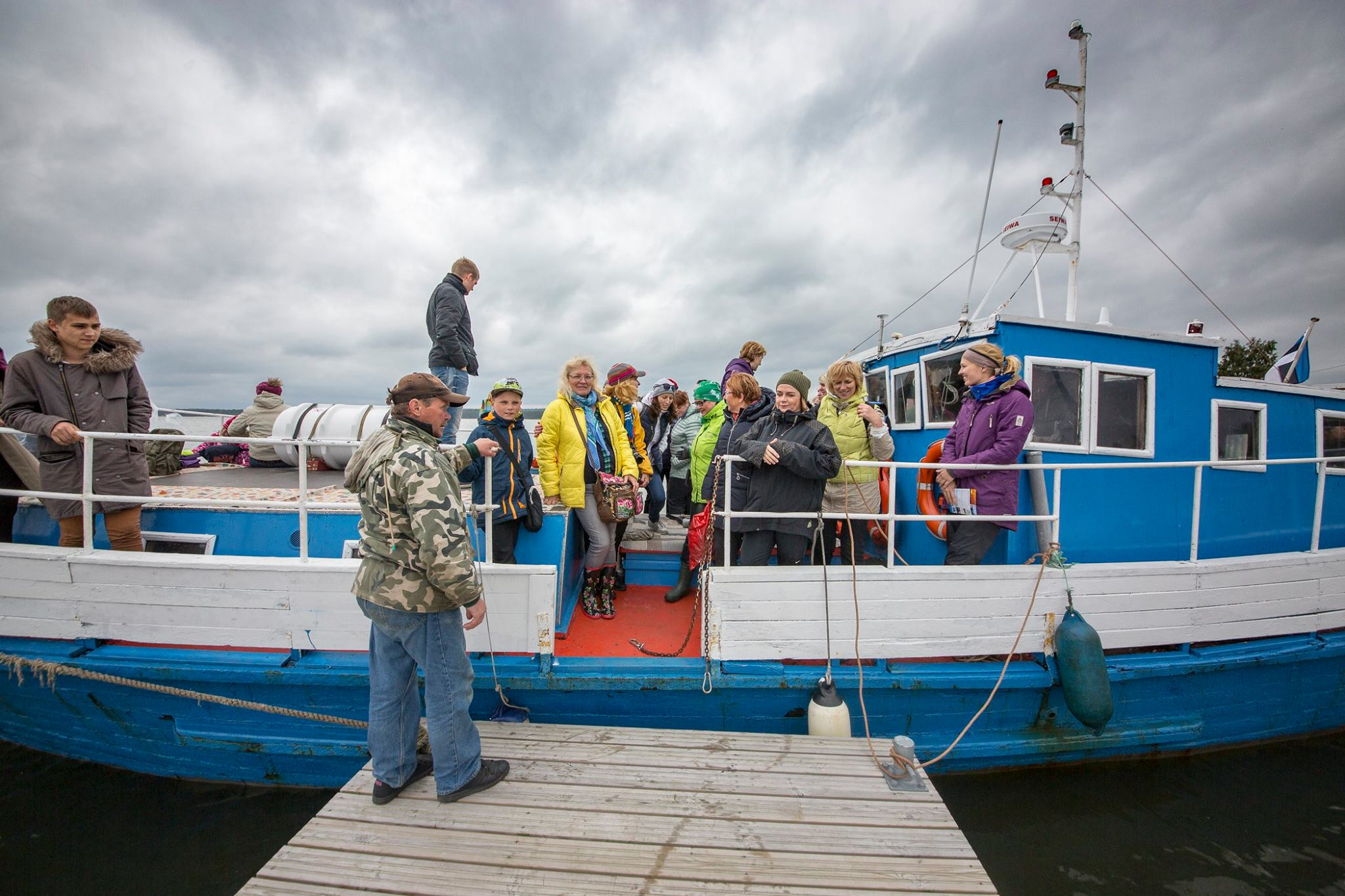 Gennadi Shleev. On our way to Malusi islands to spot some grey seals of the Baltic sea.