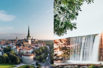 Tallinn Old Town and Jägala waterfall tour