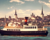 ©Sunlines. Historic cruise ship with a view overlooking Tallinn's skyline