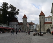©J. Leppmets. Viru gates mark one entrance to Tallinn Old Town